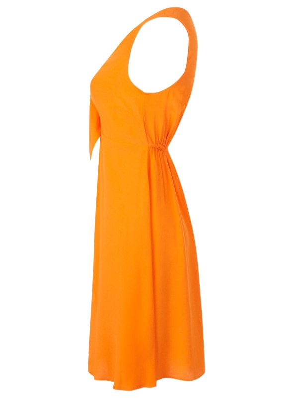 Miss Selfrdges Orange Tie Front Dress side
