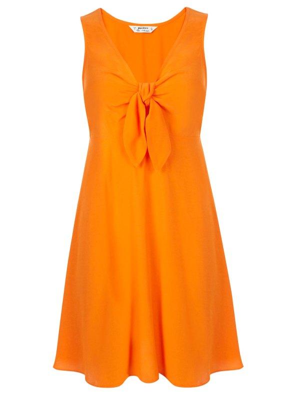 Miss Selfrdges Orange Tie Front Dress
