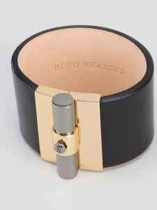 reed-krakoff-saddle-t-bar-leather-cuff-bracelet-silver-product-black