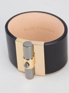 reed-krakoff-saddle-t-bar-leather-cuff-bracelet-silver-product-black