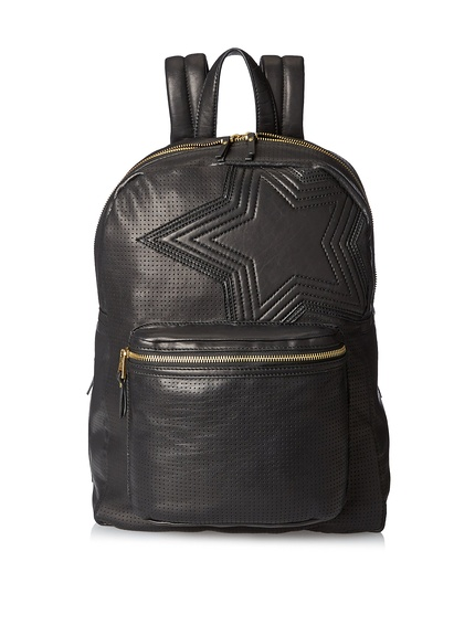 Ash Large Star Black Leather Backpack