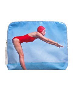 BG Limited Edition Jerry Hall 'Bathing Beauty' Makeup Bag - Charlotte Tilbury x Norman Parkinson Collection