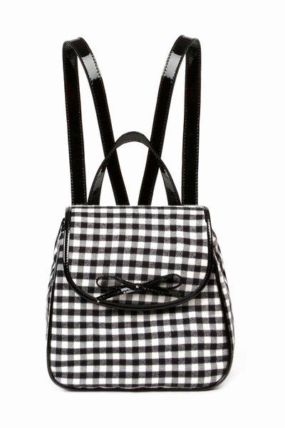 Chloë Sevigny for Opening Ceremony gingham backpack in black white