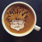 Coffee Art Chucky Finster
