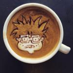 Coffee Art Chucky Finster