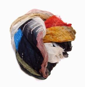 Faliero Sarti HAPPY LIFE rainbow printed modal blend scarf