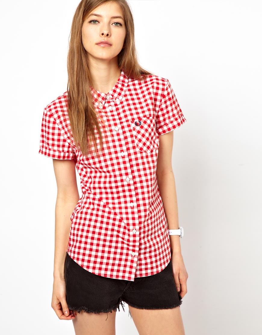 Womens Gingham Shirt