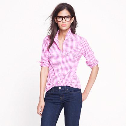 Gingham Women's Shirt J Crew mini pattern