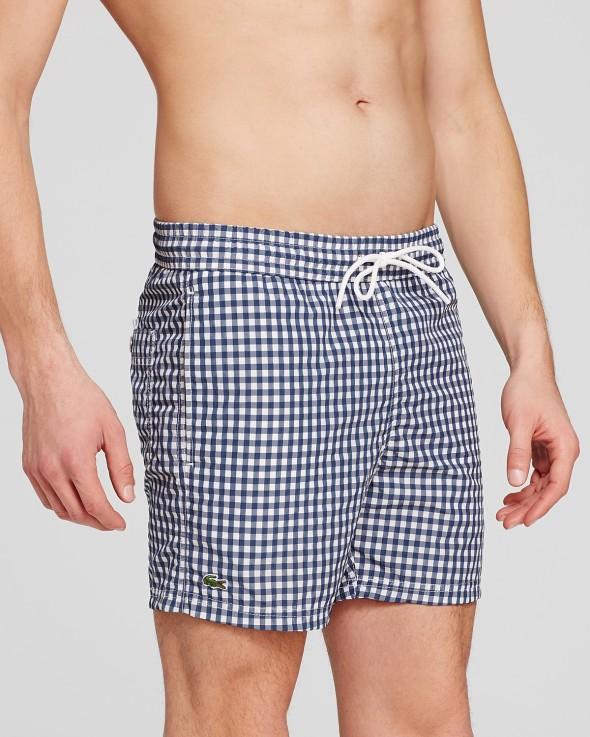 Lacoste Swimsuit Men's Gingham