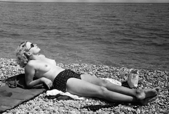 Lee Miller Sunbathing in France