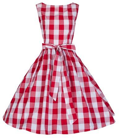 Lindy Bop Aurora Gingham dress red