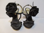 Moschino Denim Rose Sandals