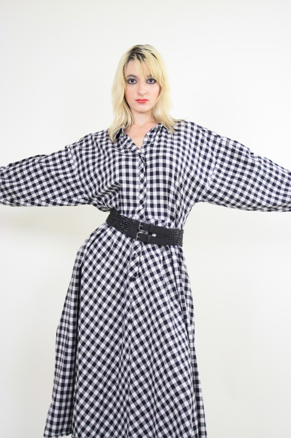Norma Kamali Gingham Dress