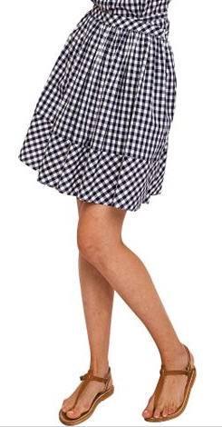 Norma Kamali Gingham Walmart skirt