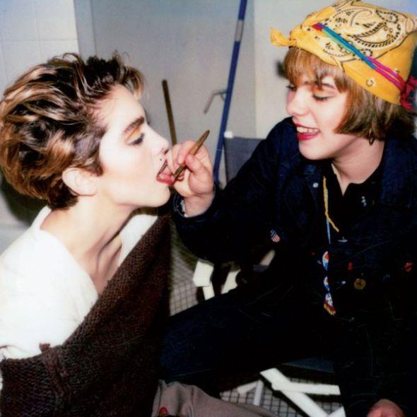 Polaroids Louise and Debi, New York, 1983.