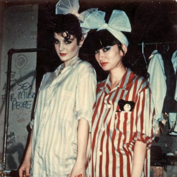 Polaroids Lovey and Chica, New York, 1981