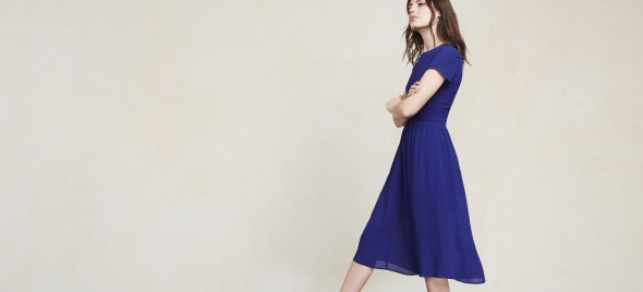 Reformation Betty Dress. whale