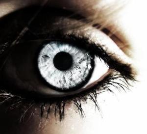 Silver eyes reflecting