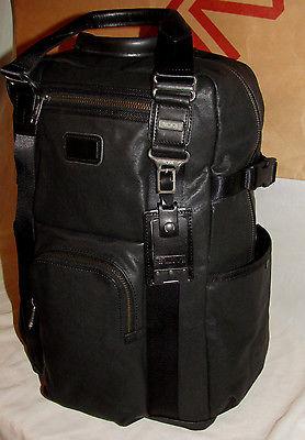 Tumi 92380 Alpha Bravo Deluxe LEATHER Lejeune Backpack
