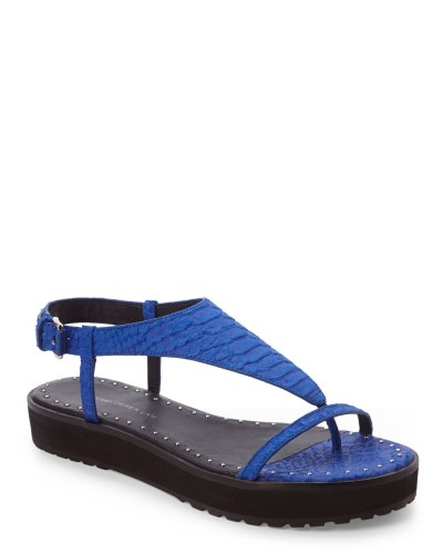 10 Crosby Derek Lam Cobalt Blue Sandals