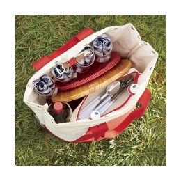 Crate and Barrel outfitted-canvas-picnic-tote 2