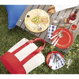 crate and barrell outfitted-canvas-picnic-tote
