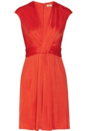Isaa Red Flame Silk Dress