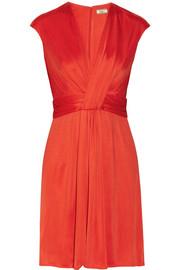 Issa Silk-Jersey Dress Bright Red Orange