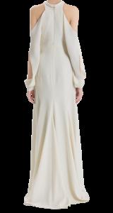 J.Mendel Silk Crepe Open Shoulder Gown $3880. back