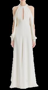 J.Mendel Silk Crepe Open Shoulder Gown $3880