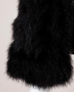 Marabou Feather Coat Vintage Black 4
