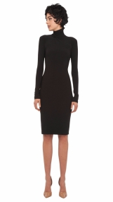 Norma Kamali Black Turtleneck Dress