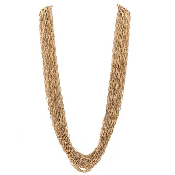 Tane Multistrand Sterling Silver Necklace