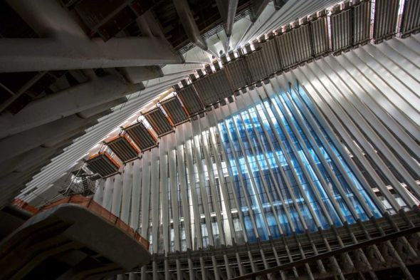 World-Trade-Center-PATH-Interior view of the Oculus, framed by white ribs next to the World Trade Center and 911 memorial site on May 6, 2015. By Yeong-Ung Yang(Credit Yeong-Ung Yang Yeong-Ung Yang)