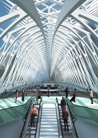World-Trade-Center-PATH-Rendering courtesy of Santiago Calatrava, LLC © 2012