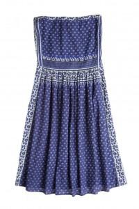 Dozei Ditsy-Border Print Dress
