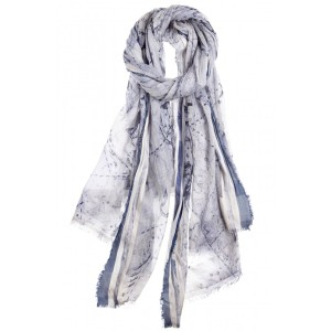 FALIERO SARTI Zodiac Silk Cotton Scarf Loop