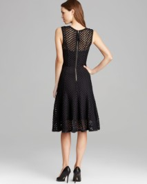 Tracy Reese Checkered Lace Godet Dress