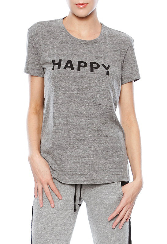 Elizabeth and James Textile Bowery Happy Tee Grey