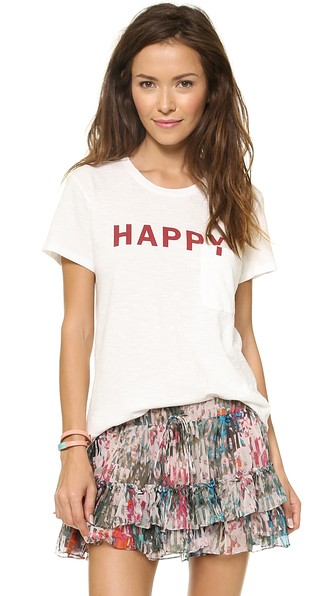 Elizabeth and James Textile Bowery Happy Tee white