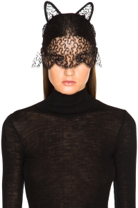 Maison Michel Lace Cat Ears with Veil 2