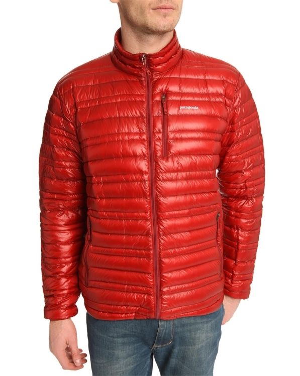 patagonia-Red Ultralight 83 Oz Burgundy Down Jacket