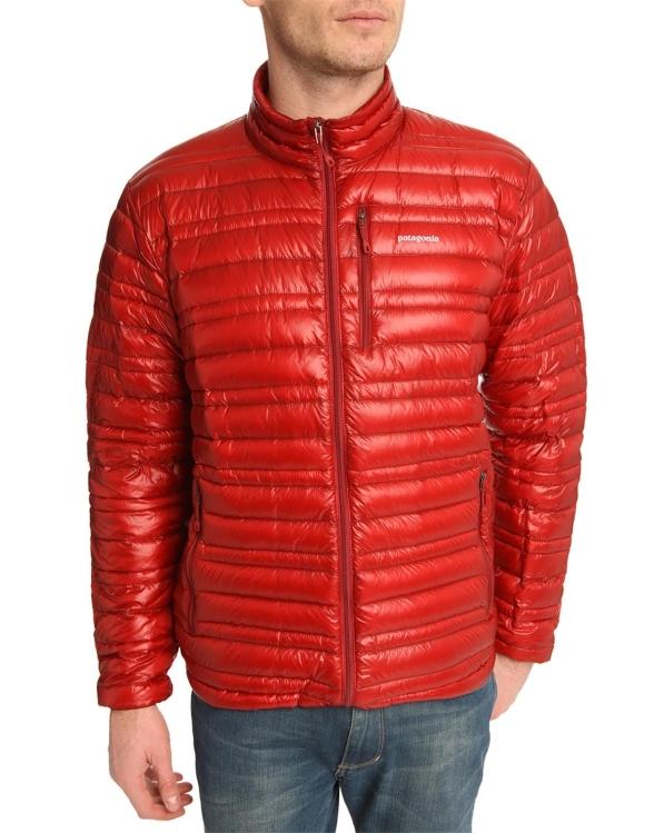 patagonia-Red Ultralight 83 Oz Burgundy Down Jacket