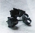 Black Sterling Oxidized Crystal Earrings - CaptiveLove Etsy