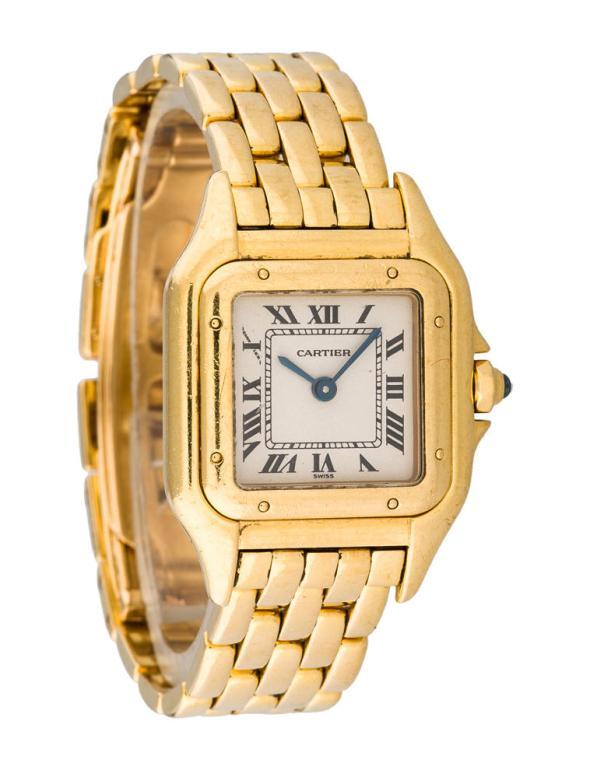 Cartier Panthere 18K Yellow Gold Watch & Diamond Watch, 22mm