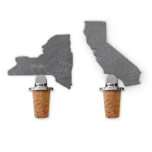 State Slate Bottle Stoppers Uncommon Goods