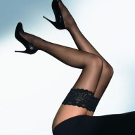 Wolford Lace Top Black Thigh Hi Stockings