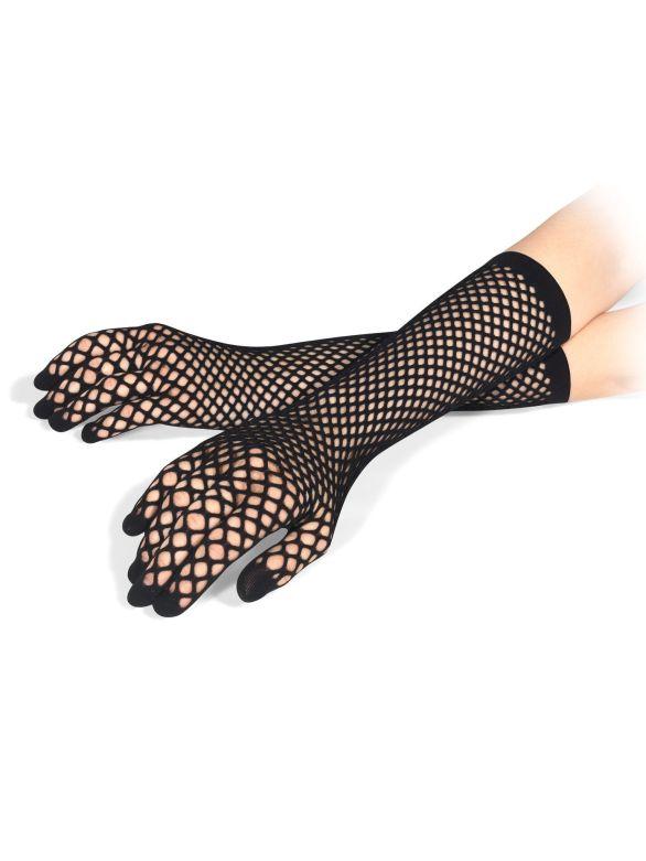 Wolford Black Net Gloves