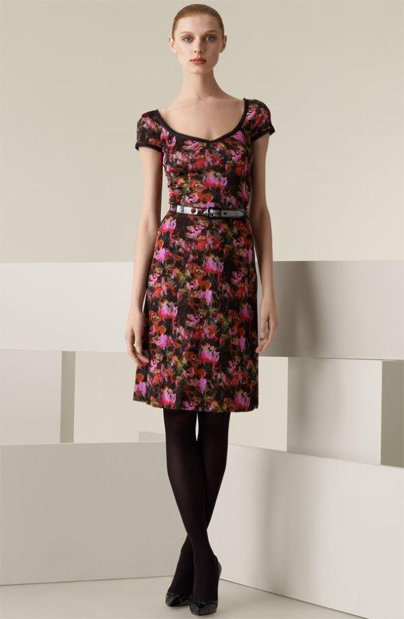 Zac Posen 'Bouquet' Belted Jersey Dress Nordstrom