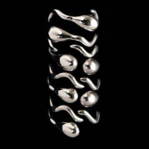 Betony Vernon_sterling_sperm race rings